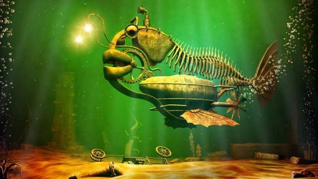 Фаршированная рыба с гарниром